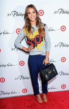 Jessica Alba em Phillip Lim para a Target