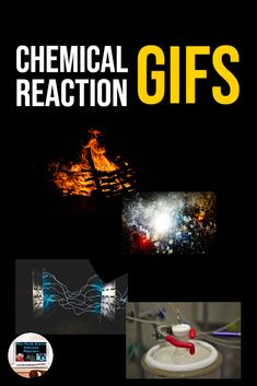23 chemical and physical reaction GIFs that youll want to include in your lessons Secondary Resources, Secondary Math, Science Resources, Science Lessons, Science Experiments, Teaching Resources, Teaching Ideas, High School Chemistry, Chemistry Teacher