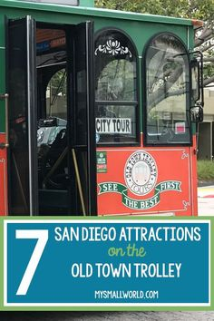 You can visit over 7 major San Diego attractions on the Old Town Trolley. That's seven fun things to do in San Diego, and you don't even need a car. Which is good, because hotel parking fees are crazy. | San Diego Things to Do | San Diego Trolley | San Diego Activities | San Diego Kids | San Diego Must Do | San Diego With Kids |