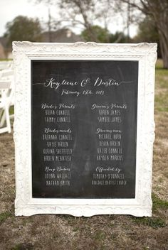 Chalkboard Wedding Programs  Rustic Weddings by ThePaperWalrus, $13.99