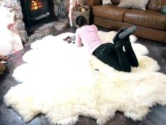 This Genuine Natural creamy white Sheepskin Rug Pelt Giant is just one of the custom, handmade pieces you'll find in our Floor & Rugs shops. Sheepskin Throw, Ikea Sheepskin, Natural Sleep, Natural Rug, Animal Breeding, Baby Carriage, Luxury Decor, Feel Tired, Places