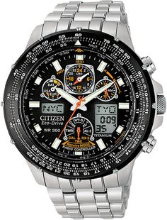 Citizen Skyhawk Black Dial Titanium Mens Watch JY0010-50E BY Citizen