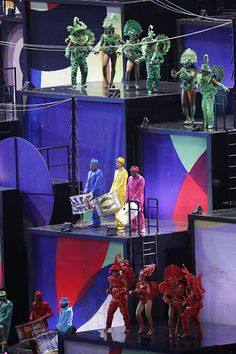 #RIO2016 Musicians perform during the opening ceremony of the Rio 2016 Olympic Games at the Maracana stadium in Rio de Janeiro on August 5 2016 / AFP / Thomas...