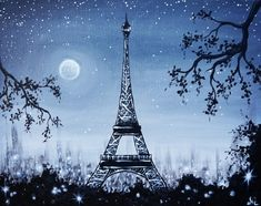 Join us for a Paint Nite event Thu Jun 2015 at 440 Danforth Ave Toronto, ON. Purchase your tickets online to reserve a fun night out! Paris Wallpaper, Stone Creek, I Love Paris, Paint Shop, Learn To Paint, Watercolor Paintings, Art Projects, Black And White, Eiffel Tower Painting