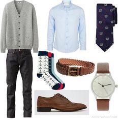 Grey Cardigan | Men's Outfit | ASOS Fashion Finder