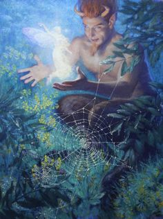 'A Midsummer Night's Dream' where Puck meets a Fairy. Christian Birmingham