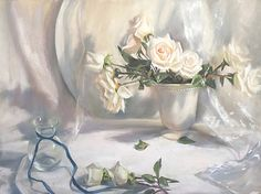 Crystal Balls and Wishing Wells by Mary Aslin Pastel ~ 18 x 24