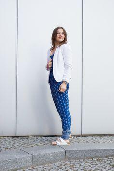 Birkenstock - Outfit: Jumpsuit & Blazer | BILDHÜBSCH