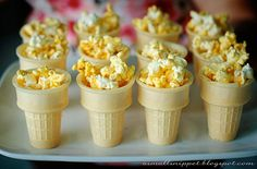"""Olympic Torch Popcorn -- from """"Host An Olympics Party"""" at the click-through"""