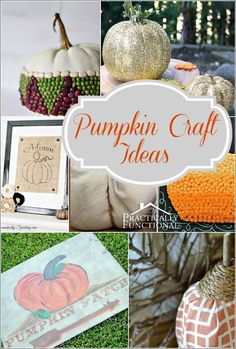 #Fall is here! Get ready for the new season with these adorable #pumpkin #craft ideas!