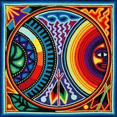 Huichol Yarn Art ~ 8 Inch
