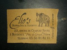 @Leslie Rash Berckes tables de julie: Elio's