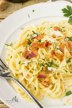 Creamy Penne A La Carbonara Recipe Penne Bacon And Pasta