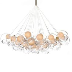 top omer arbel. Designer Lighting Replica Lights Bocci 28.19 By Omer Arbel LED Glass Ball Pendant, View From Top