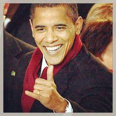 Obama hang loose