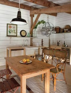 Like the walls & ceiling.....Rustic-chic farmhouse in the South of France