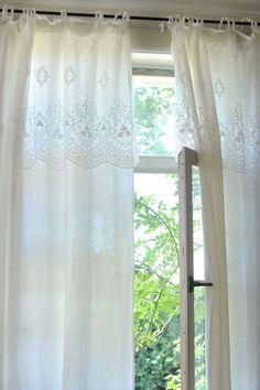 Audrey lace/Emma linen