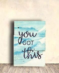 you got this. Flourish Inspirational Sign - Positive Quote Sign - Flourish Sign - Studio Wall Sign - Flourish Swag Sign - Birthday Gift Idea. aff