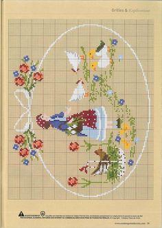 Cross Stitch Fairy, Cross Stitch Charts, Cross Stitch Patterns, Embroidery Art, Cross Stitch Embroidery, Embroidery Patterns, Cross Stitch Animals, Stuffed Animal Patterns, Fabric Art