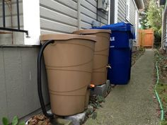 Rain Barrels...will need this to water the garden