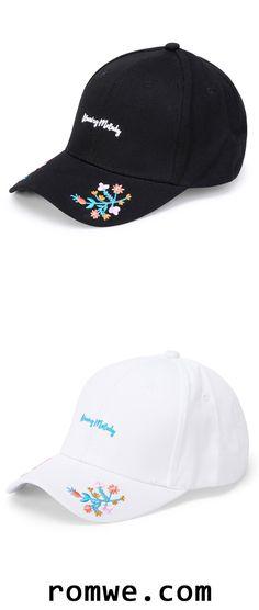 Embroidery Detail Baseball Cap