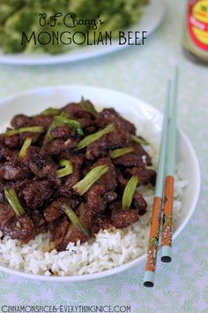 P.F. Chang's Mongolian Beef Copycat Recipe~T~ Love Chang's and this is one of my favorite dishes. Love to add asparagus. The sauce of ginger, garlic, soy sauce and brown sugar is fantastic.
