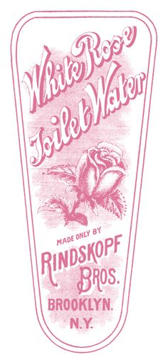 *The Graphics Fairy LLC*: Vintage Clip Art - Rose Toilet Water Label
