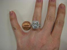 Vintage Moissanite Engagement Ring $4,000