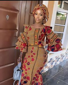 Latest African Fashion Dresses, African Print Fashion, Fashion Prints, Eid Outfits, Cute Casual Outfits, Ankara Designs, Ankara Styles, African Beauty, African Style