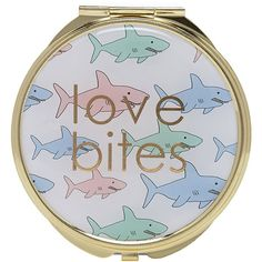 FOREVER 21 Shark Print Compact Mirror ($3.90) ❤ liked on Polyvore featuring beauty products, beauty accessories, makeup, accessories, makeup/other and forever 21