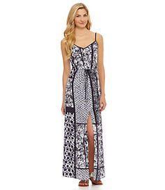 MICHAEL Michael Kors Patchwork Maxi Dress   Dillard's Mobile