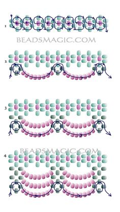 beaded+jewelry+patterns | Free pattern for beaded necklace Valentine | Beads Magic