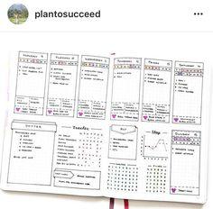 Bullet journal layout |