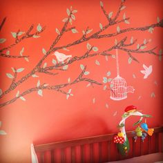 Nursery wall mural!