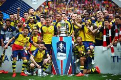 Arsenal win the FA Cup for a record 12th time, at Wembley, May 30th 2015.