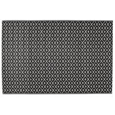 Tapis d'extérieur en polypropylène noir/blanc 120 x 180 cm | Maisons du Monde