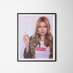 Kate Moss Supreme Wall Art Digital Download 300dpi A3 by PrintClub