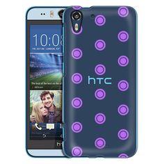 HTC Desire EYE Round Purple Dots Case