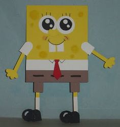 spongebob paper craft