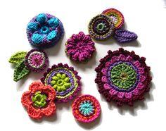 Häkelapplikationen - ••• Häkelset ••• SONDERPREIS - ein Designerstück von crochet bei DaWanda