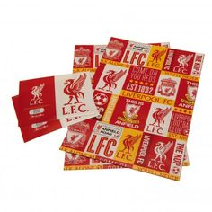 Liverpool FC Wrapping Paper - New Design!: - Gift Wrap - approx x - 2 sheets of wrapping paper - 2 gift tags - in a polythene bag - official licensed product Liverpool Fc Gifts, Football Accessories, Uk Football, London Football, Football Memorabilia, European Soccer, Soccer Gifts, Paper News, Gift Tags