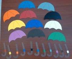 Students can practice matching colors through an umbrella matching activity… Pre K Activities, Weather Activities, Speech Therapy Activities, Learning Activities, Teaching Ideas, Preschool Letters, Preschool At Home, Preschool Crafts, Preschool Activities