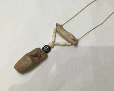 collier bois flotté et perles