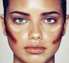 Easy way to contour cheeks. Just blend! Need to start doing this.