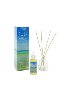 Enjoy fresh uplifting fragrance anywhere in your home with our new Fragrance Diffuser. The sparkling scent of Inis is presented in a beautiful frosted glass vessel that will compliment any decor. Featuring new fiber reed wicks for better-than-ever fragrance diffusion the set includes a 3.3 fl. oz. of fragrance oil vessel and 5 fiber reed wicks.  Fragrance Diffuser by Inis. Home & Gifts - Gifts - Scents & Bath Cape Cod Massachusetts