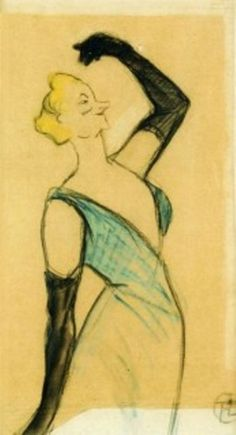 Анри де Тулуз-Лотрек. Серия «Кафешантан», Иветт Гильбер. 1893.