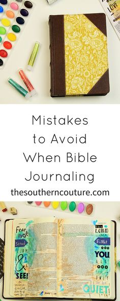 Mistakes to Avoid When Bible Journaling