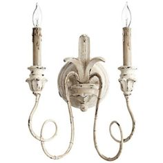 "Sconce in DR to match chandelier. Also comes in a single light size. Quorum Salento Collection 14"" High Persian White Sconce -"