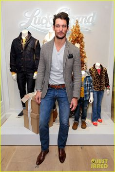 David Gandy at the opening of Lucky Brand's new flagship store in NYC Credit: Getty