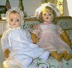 Two old baby dolls